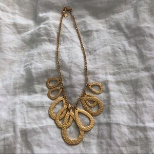 Banana Republic hammered brass gold necklace